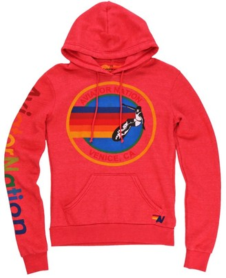 Aviator Nation Rainbow Graphic Hoodie