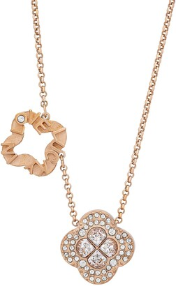 Swarovski Admiration 18K Rose Gold Plated CZ Clover Pendant Necklace