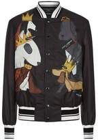 Dolce & Gabbana Dog Printed Bomber Jacket