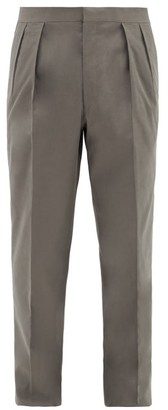 The Row Mark Pleated Wool-twill Suit Trousers - Dark Grey