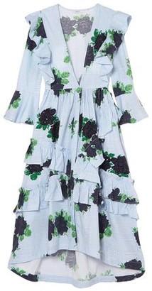 Ganni Pine Embellished Gingham Cotton-poplin Dress