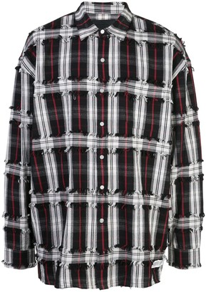 Mostly Heard Rarely Seen Drop Shoulder Plaid Shirt