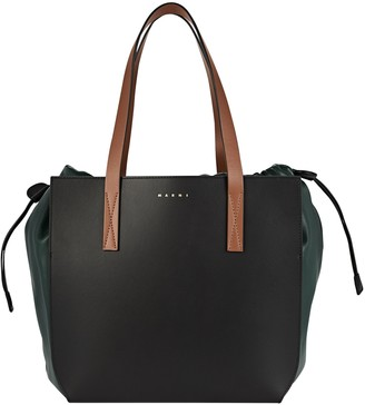 Marni Leather Gusset Tote Bag