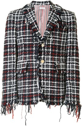 Thom Browne Check Tweed Jacket