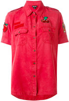 Just Cavalli cherry patch shirt - women - Viscose - 38