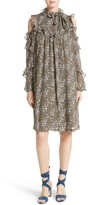 Robert Rodriguez Women's Floral Print Silk Cold Shoulder Dress