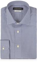 Forzieri Blue & White Micro Checked Non Iron Cotton Men's Shirt