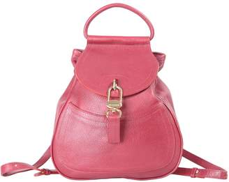 Delvaux Red Leather Backpacks