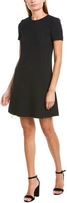 Twin-Set Twinset Zippered Wool-Blend Shift Dress