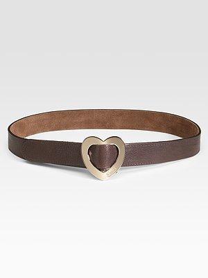 Gucci Heart-Shaped Buckle Belt