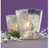 Antiqued Glass Snowflake Candleholder