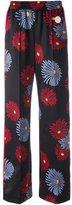 MSGM daisy print wide-leg pants - women - Polyester/Spandex/Elastane - 40