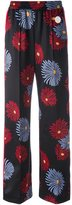 MSGM daisy print wide-leg pants - women - Polyester/Spandex/Elastane - 42