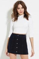 Forever 21 FOREVER 21+ Corduroy Buttoned Skirt