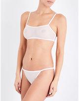 Calvin Klein Sheer Marquisette stretch-jersey bralette