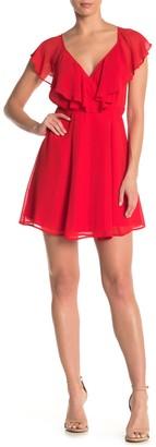 Yumi Kim Fiesta Ruffled Wrap Mini Dress
