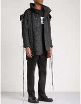 Kokon To Zai Lace-up hooded satin coat
