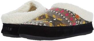Acorn Fair Isle Hoodback (Black Multi) Women's Shoes