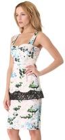 Peter Som Floral Peplum Dress
