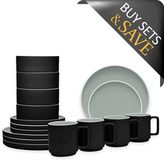 Noritake ColorTrio Stax 16-Piece Dinnerware Set in Graphite