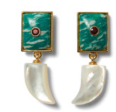 Lizzie Fortunato Deep Dive Garnet, Amazonite and Mother-Of-Pearl Earri
