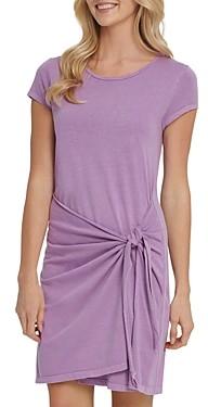 DKNY Cotton Tie Waist Dress