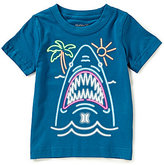 Hurley Little Boys 2T-7 Neon Shark Graphic Short-Sleeve Tee