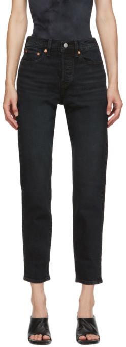 Levi's Levis Black Wedgie Fit Ankle Jeans