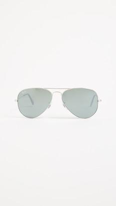 Ray-Ban RB3025 Mirrored Original Aviator Sunglasses