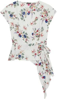 Bouquet-print Wrap-front Blouse