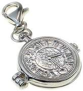 Welded Bliss Sterling 925 Silver Alice Charm Filigree Pocket Watch Opening To Show Movement, Clip Fit WBC1129