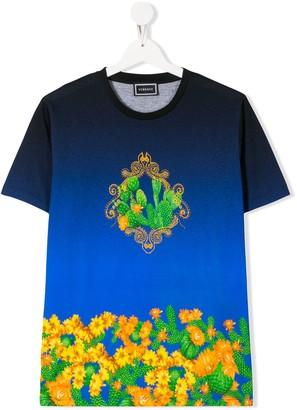Versace TEEN cactus print T-shirt