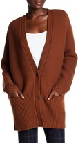 Vince Wool and Cashmere Blend V-Neck Cardigan