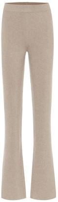 Nanushka Leba high-rise flared knit pants