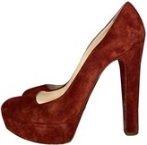 Christian Louboutin Red Suede Heels