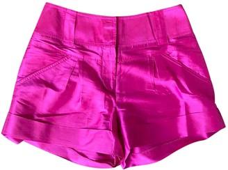 Diane von Furstenberg Pink Silk Shorts