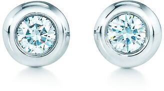 Tiffany & Co. Elsa Peretti Diamonds by the Yard earrings in sterling silver - Size .06