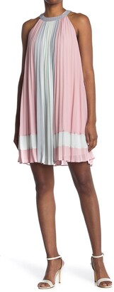 Ted Baker Colorblock Pleated Halter Neck Sleeveless Top