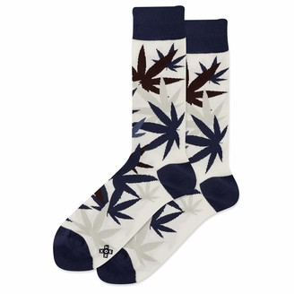 Hot Sox mens Men's Weed Leaf Crew Casual Sock