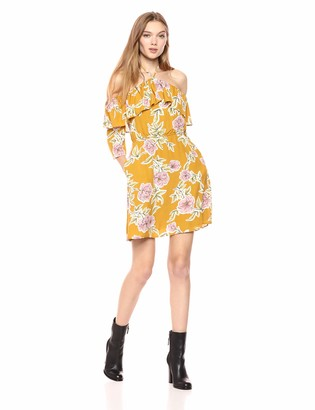 Cupcakes And Cashmere Women's Fonda Ruffle Detail Floral Print Dress