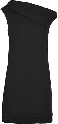 Helmut Lang Wool-blend Crepe Mini Dress