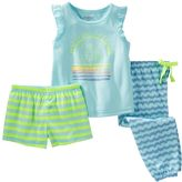 Osh Kosh Girls 4-12 Print 3-Piece Pajama Set