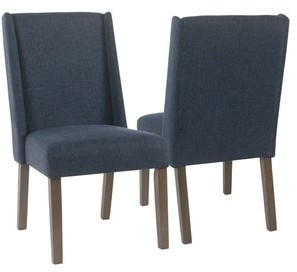 HomePop Dinah Modern Navy Dining Chairs