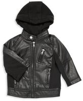 Urban Republic Baby's Hooded Faux Leather Jacket