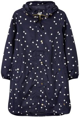 Joules Waybridge Print Waterproof Raincoat - Navy Spot