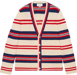 Gucci Cotton wool cardigan with appliqué