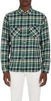 Barneys New York Men's Plaid Cotton Flannel Overshirt