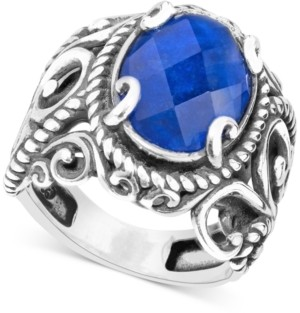 Carolyn Pollack Lapis Lazuli Doublet Ring (5-3/4 ct. t.w.) in Sterling Silver