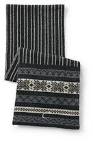 Classic Men's Chunky Knit Scarf-Dark Charcoal Heather Fairisle