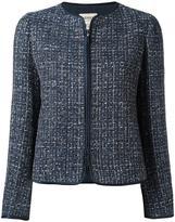 Armani Collezioni fitted jacket - women - Silk/Cotton/Linen/Flax/Metallic Fibre - 44